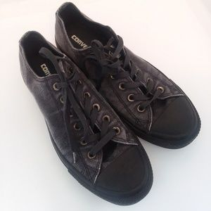 Converse All Star gray and black low top sneakers